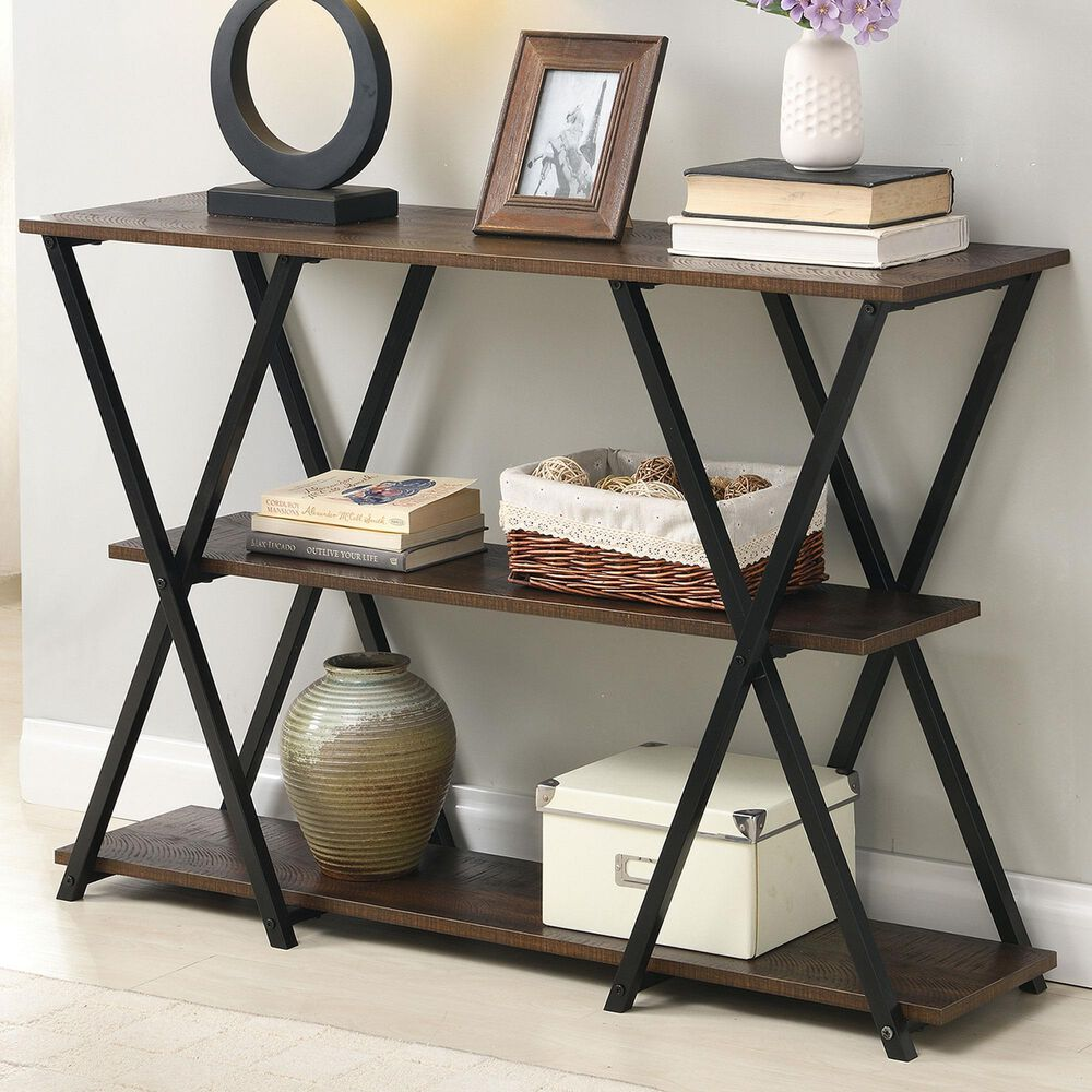 Carolina Chair and Table Dowell Console Table in Elm and Black, , large