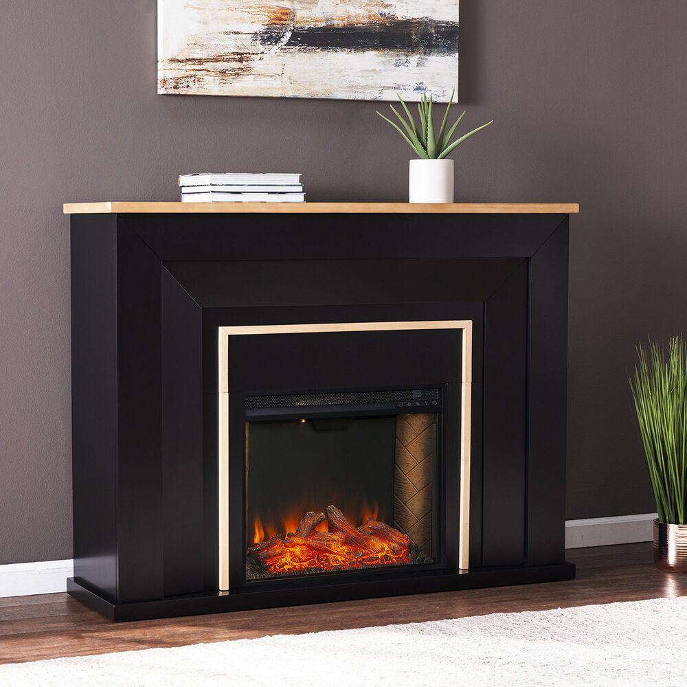 Southern Enterprises Cardington Alexa Smart Fireplace in Black/Natural, , large