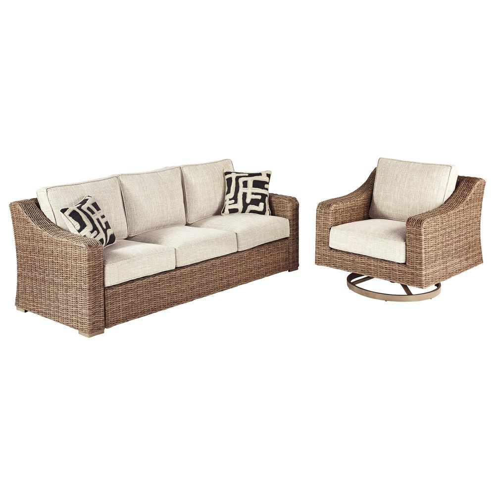 Signature Design by Ashley Beachcroft Sofa and Swivel Lounge Set in Beige, , large