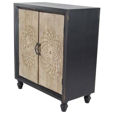 Maple and Jade 2-Door Cabinet in Black, , large