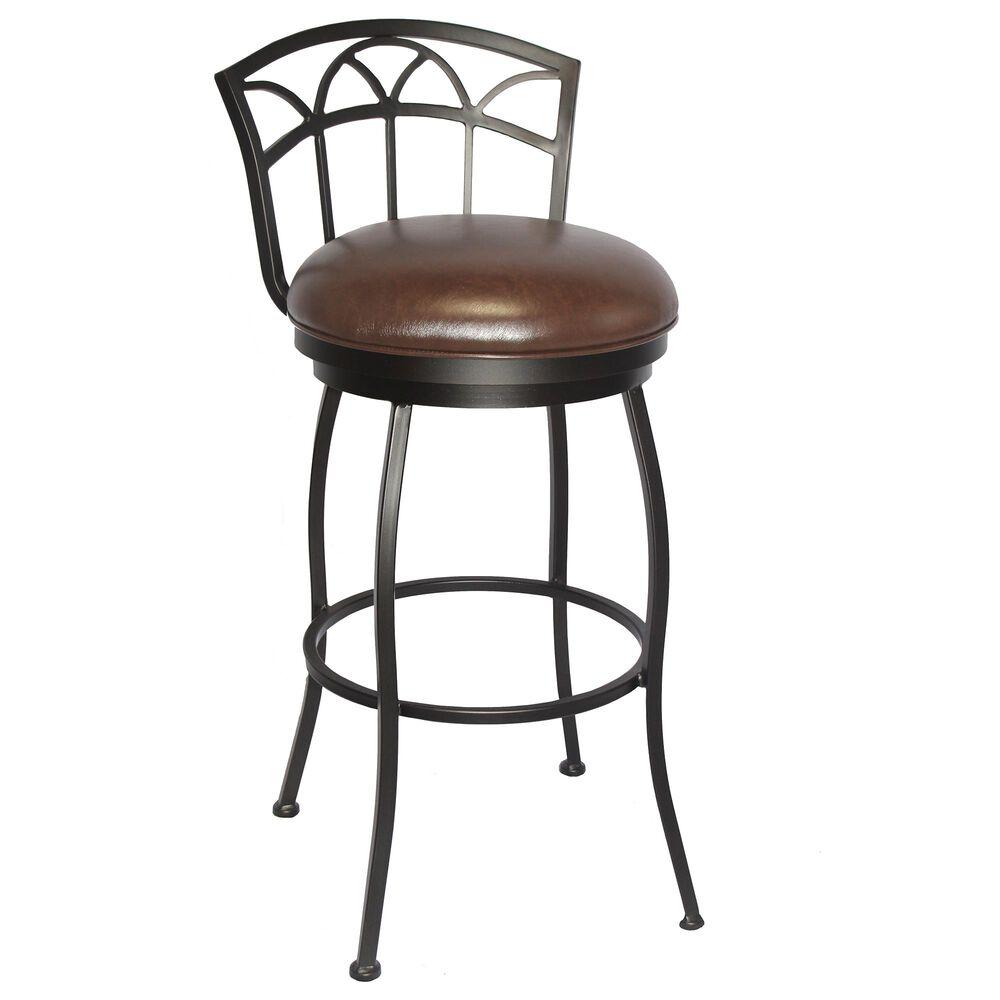 "Delaware Dining Fairview 26"" Swivel Barstool in Pebblestone/Dark Brown, , large"