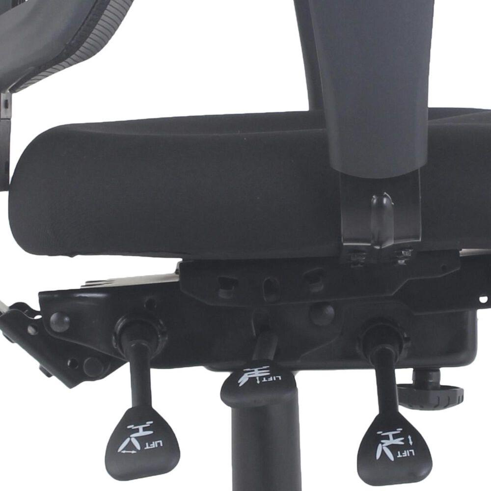 Global Seating Zephyr Mesh Mid-Back Executive Desk Chair in Ebony Black, , large