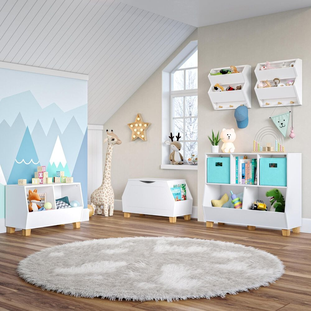 """RiverRidge Home Catch-All 35"""" Multi-Cubby Toy Organizer in White, , large"""