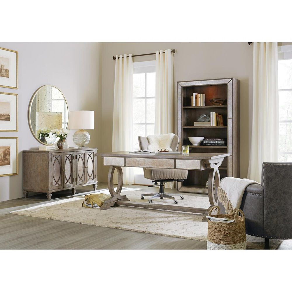 Hooker Furniture Rustic Glam Credenza in Light Wood, , large