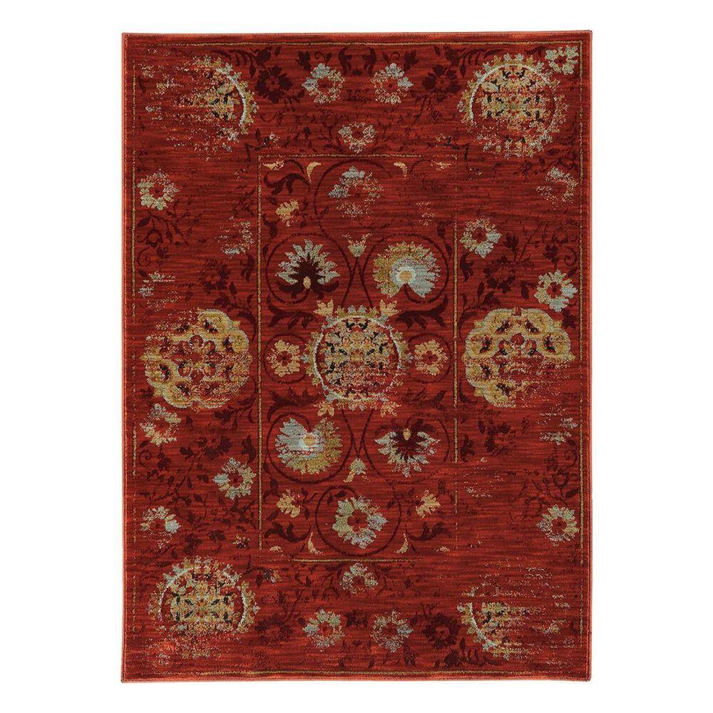 "Oriental Weavers Sedona 6386E 7'10"" x 10'10"" Red Area Rug, , large"