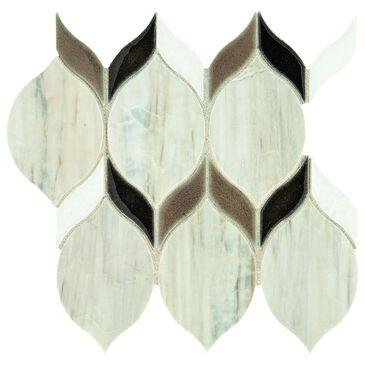 "Dal-Tile Fonte Pier White Blend 6"" x 12"" Natural Stone Mosaic Sheet, , large"