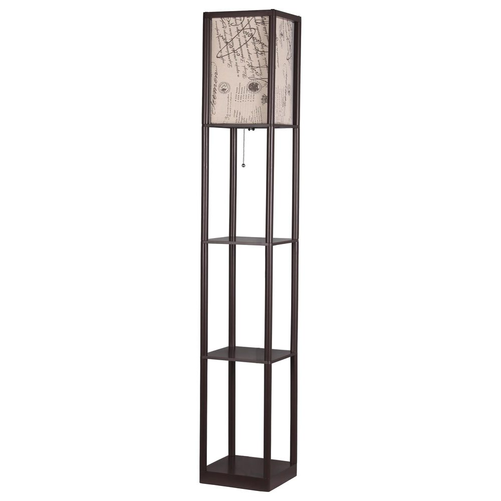 Adesso Floor Lamp in Brown, , large