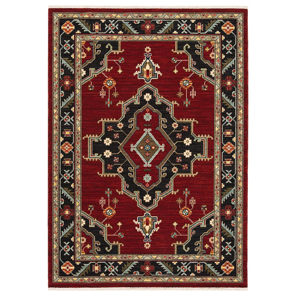 "Oriental Weavers Lilihan Medallion 092R6 9""10"" x 12""10"" Red Area Rug, , large"