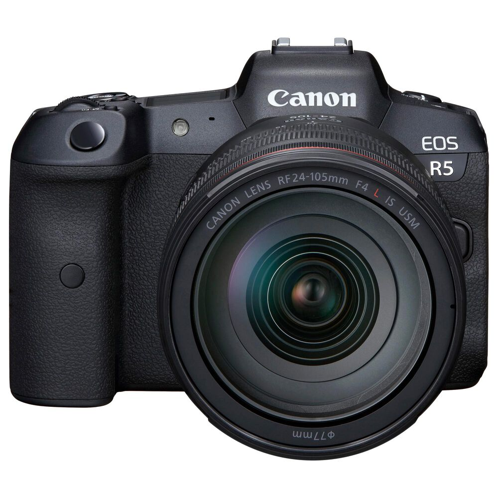 Canon EOS R5 DSLR Camera with RF24-105mm F4 L IS USM Lens in Black, , large