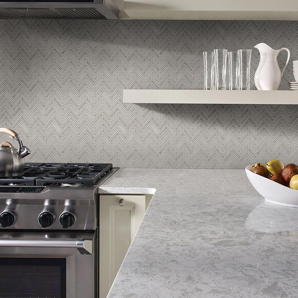 "MS International Highland Park Dove Gray Herringbone 12.56"" x 11.3"" Ceramic Tile, , large"