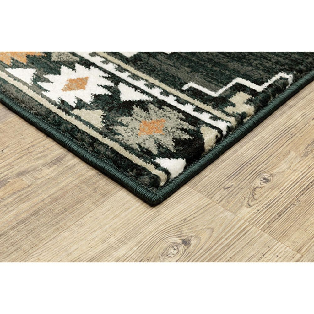 Oriental Weavers Georgia Southwest 605F0 Charcoal and Ivory Runner, , large