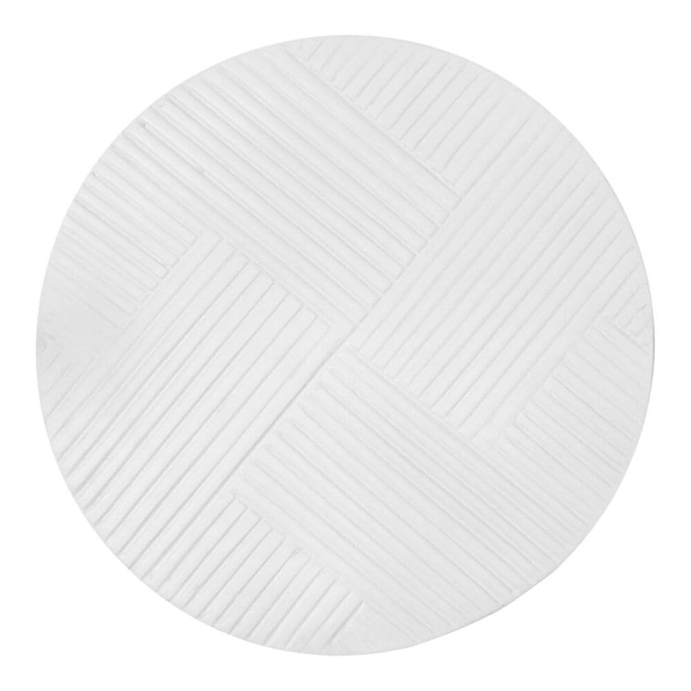 Moe's Home Collection Foundation Patio Accent Table in White, , large