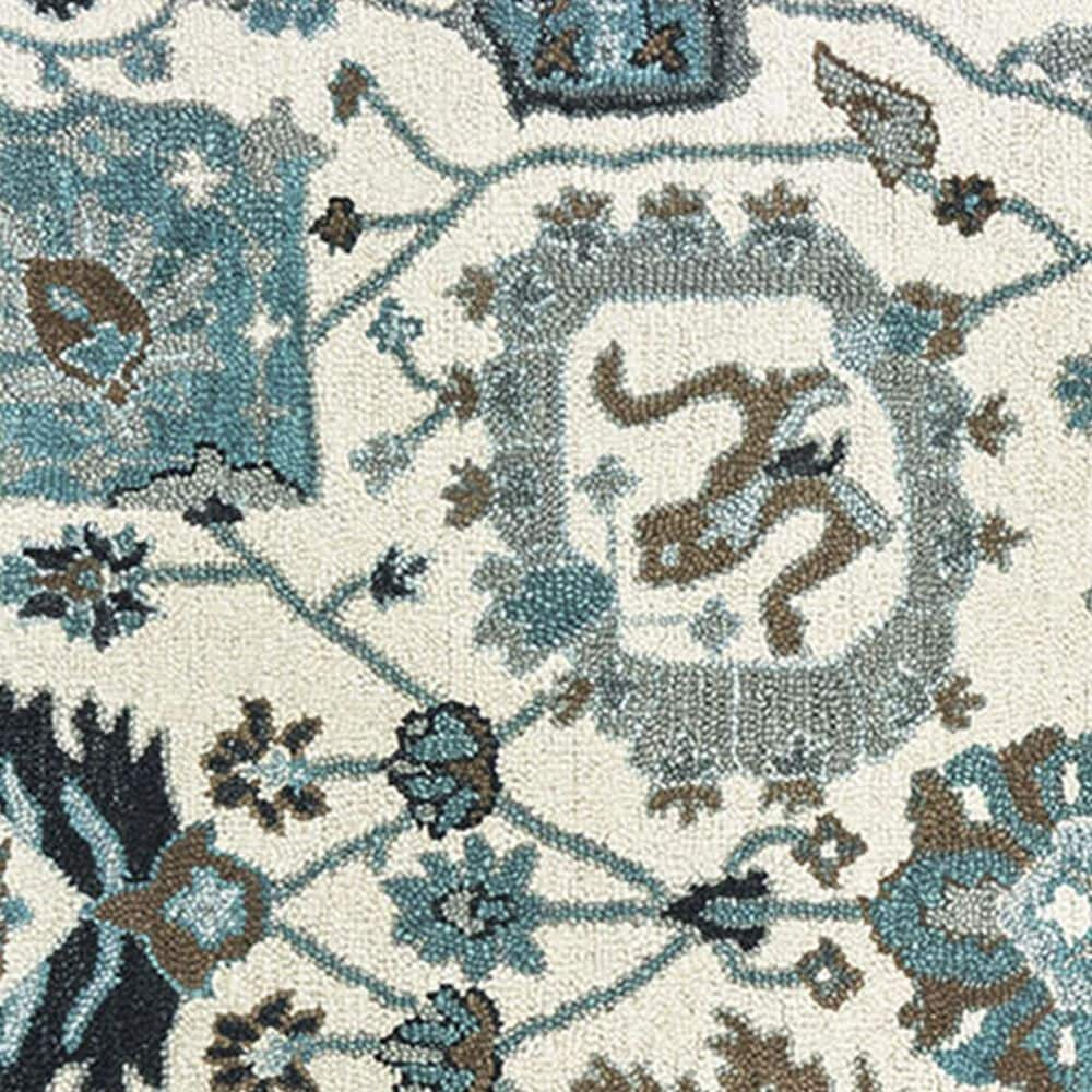 """Oriental Weavers Zahra 75503 2'6"""" x 8' Ivory and Blue Runner, , large"""