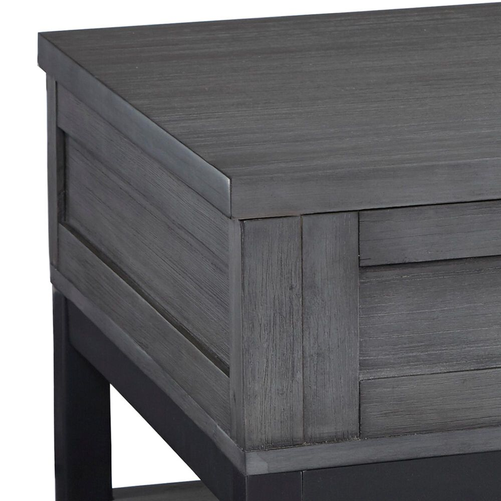 Signature Design by Ashley Caitbrook Lift Top Cocktail Table in Gray and Black, , large