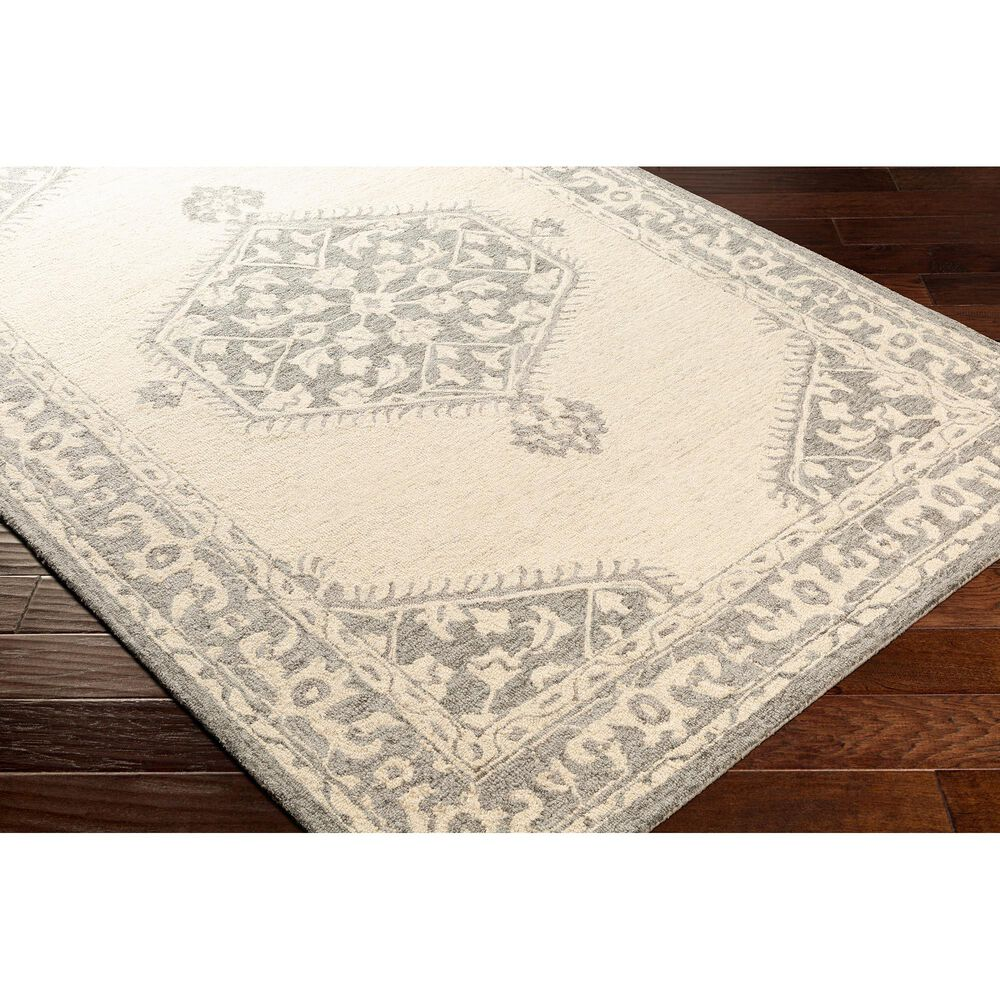 Surya Granada GND-2307 6' x 9' Medium Gray, Beige and Charcoal Area Rug, , large