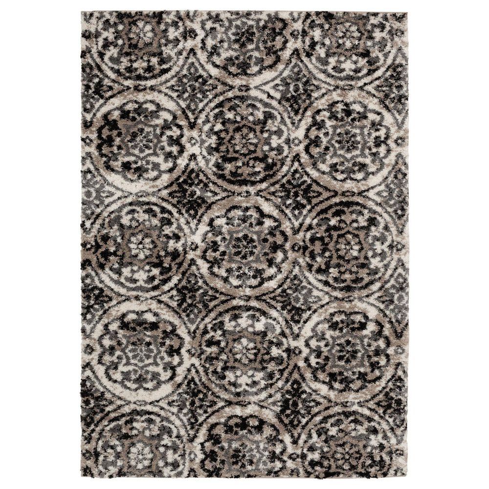 Central Oriental Tulsa Ledyard 9865RNI 8' x 10' White Sand and Nickel Area Rug, , large