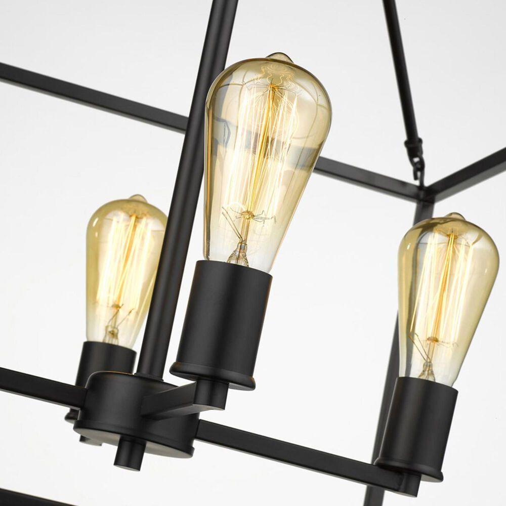 Golden Lighting Wesson 4-Light Chandelier in Black, , large