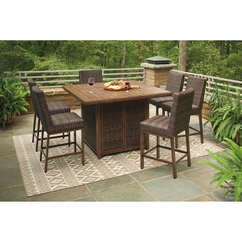 Signature Design by Ashley Paradise Trail Barstool in Medium Brown - Set of 2, , large