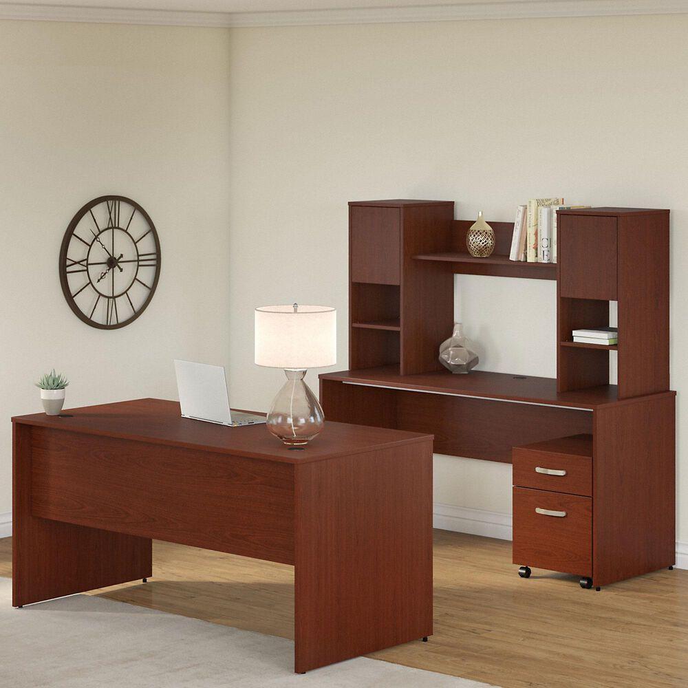 Bush Contemporary 3-Piece Office Desk Set in Autumn Cherry, , large