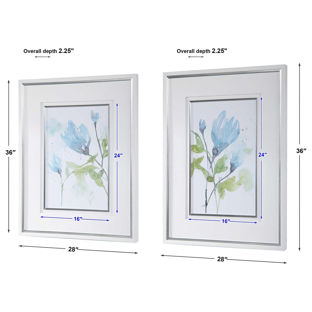 Uttermost Cerulean Splash Floral Prints (Set of 2), , large