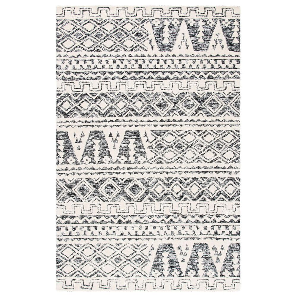 Safavieh Abstract 4' x 6' Ivory and Black Area Rug, , large