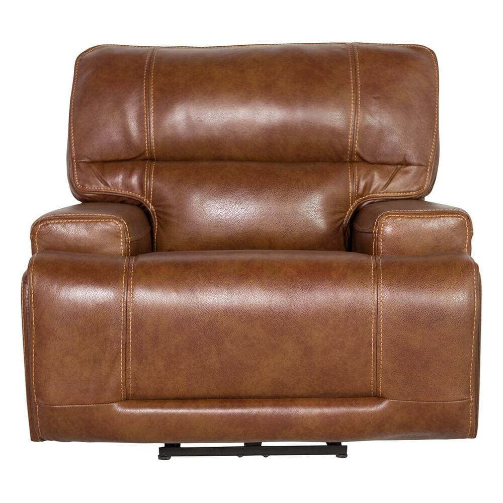 Interlochen Leather Power Recliner with Headrest and Lumbar in Nature Red Brown, , large