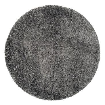 Safavieh California Shag SG151-8484 4' Round Dark Grey Area Rug, , large