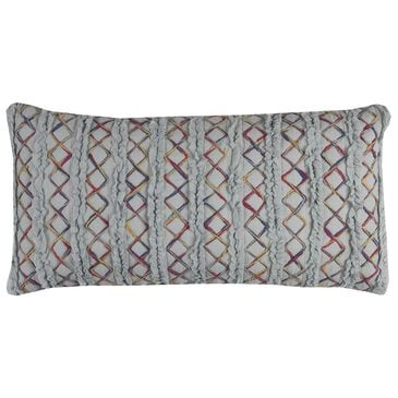"""Rizzy Home 14"""" x 26"""" Poly Fill Pillow in Blue, , large"""