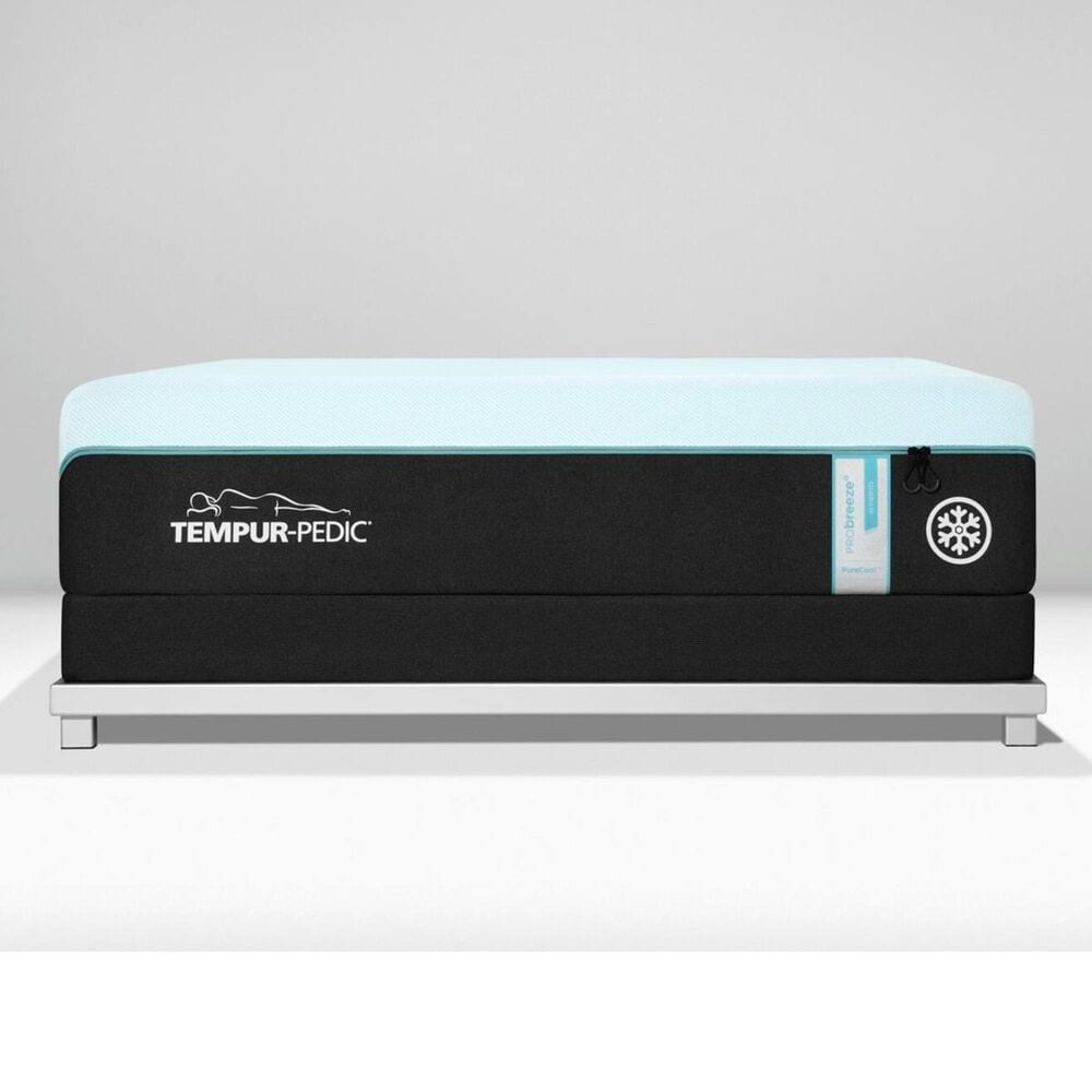 Tempur-Pedic TEMPUR-PRObreeze Medium Hybrid Queen Mattress with Low Profile Box Spring, , large