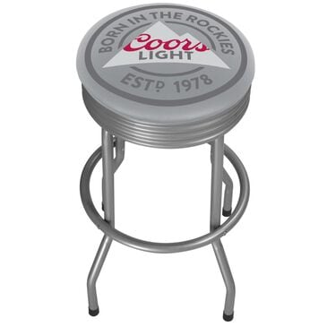 Timberlake Coors Light Outdoor Ribbed Barstool in Chrome, , large
