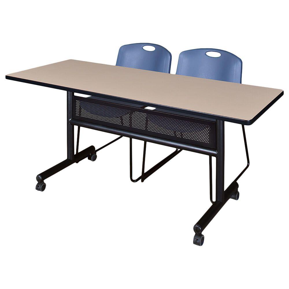 "Regency Global Sourcing Kobe 60"" Mobile Training Table in Beige, , large"