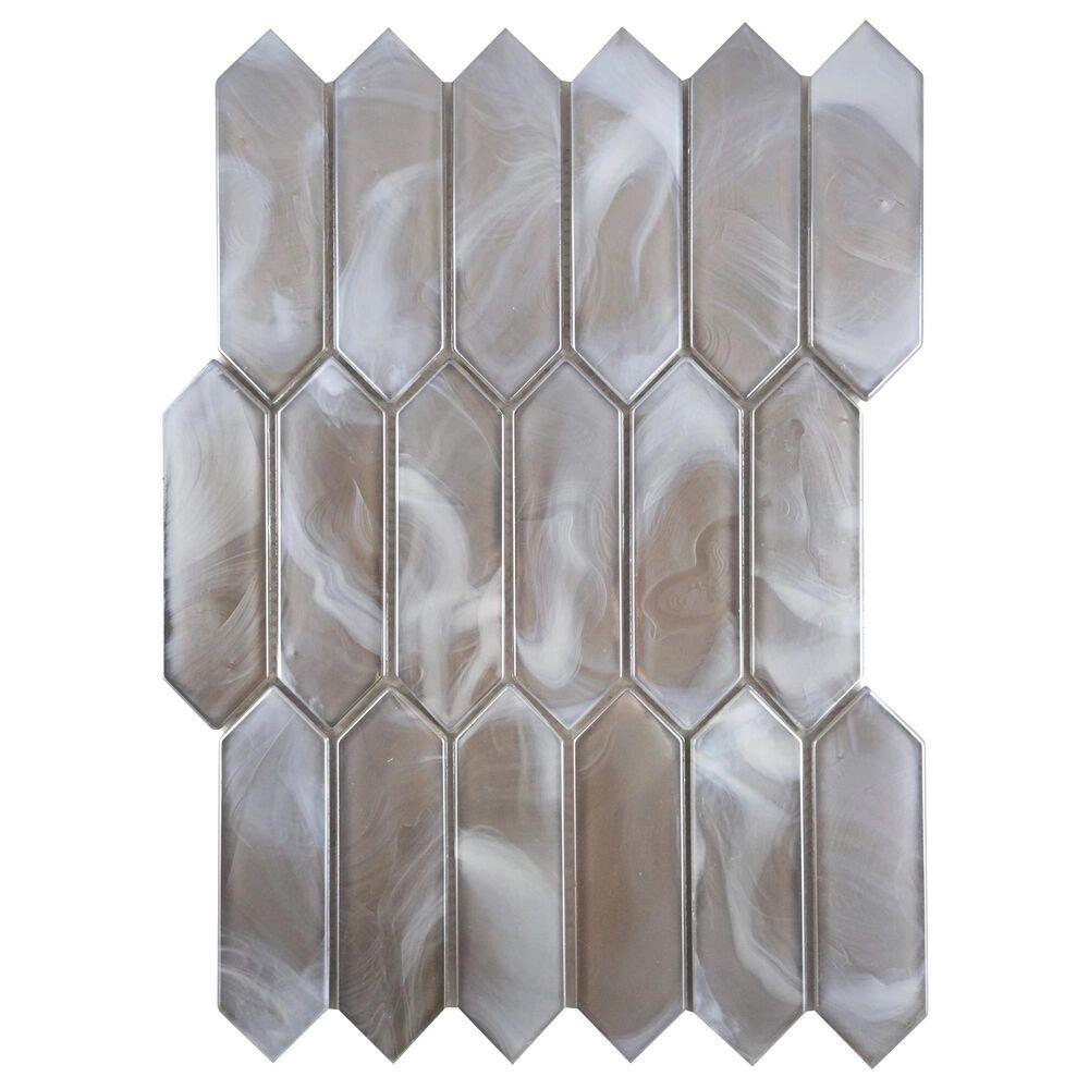 """Emser Splash Tan 10"""" x 14"""" Picket Glass Mosaic Sheet, , large"""