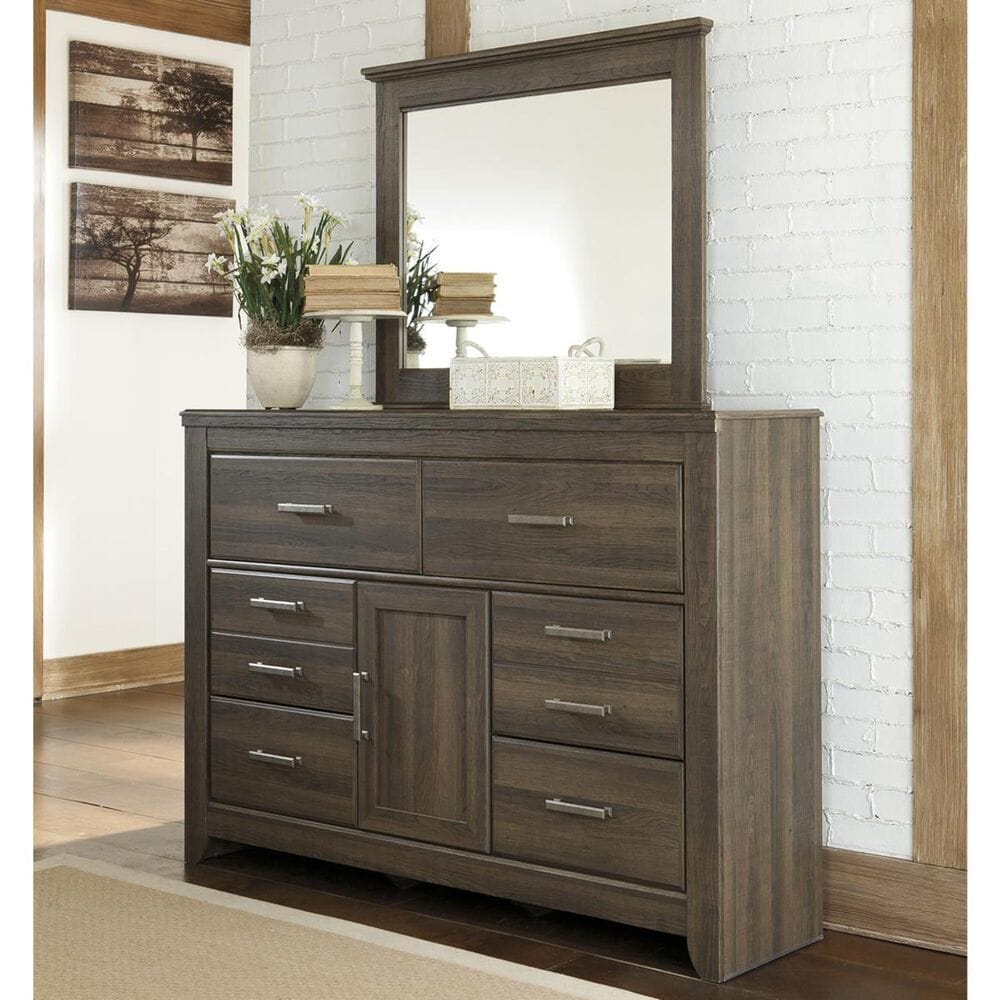 Signature Design by Ashley Juararo Dresser and Mirror in Dark Brown, , large
