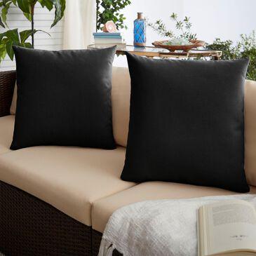 "Sorra Home Sunbrella 22"" Pillow in Canvas Black (Set of 2), , large"