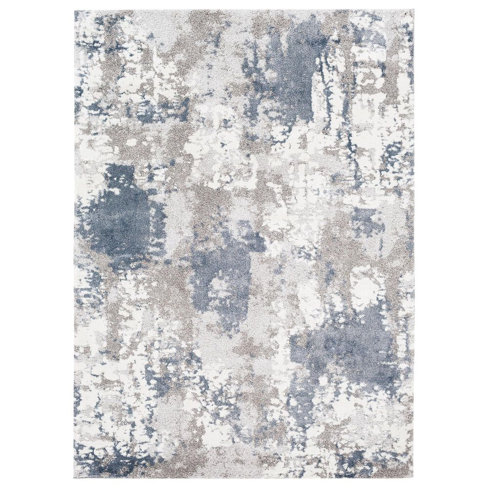 "Surya Venice VNE-2306 7'9"" x 10'3"" Denim, Blue and Ivory Area Rug, , large"