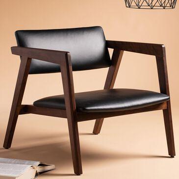 Safavieh Eclair Leather Chair in Black/Brown, , large