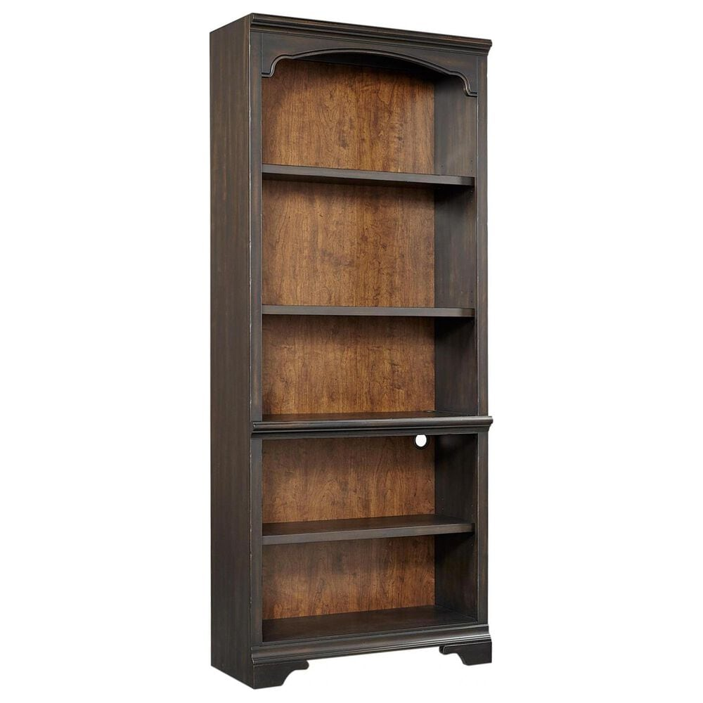 Riva Ridge Hampton Open Bookcase in Black Cherry-Includes 1 open bookcase only, , large