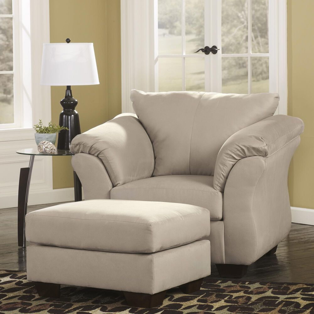 Signature Design by Ashley Darcy Ottoman in Stone, , large