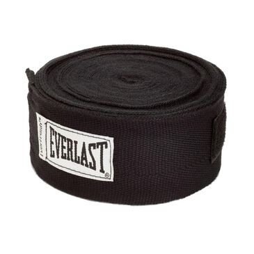 """Everlast 180"""" Traditional Hand Wraps in Black, , large"""