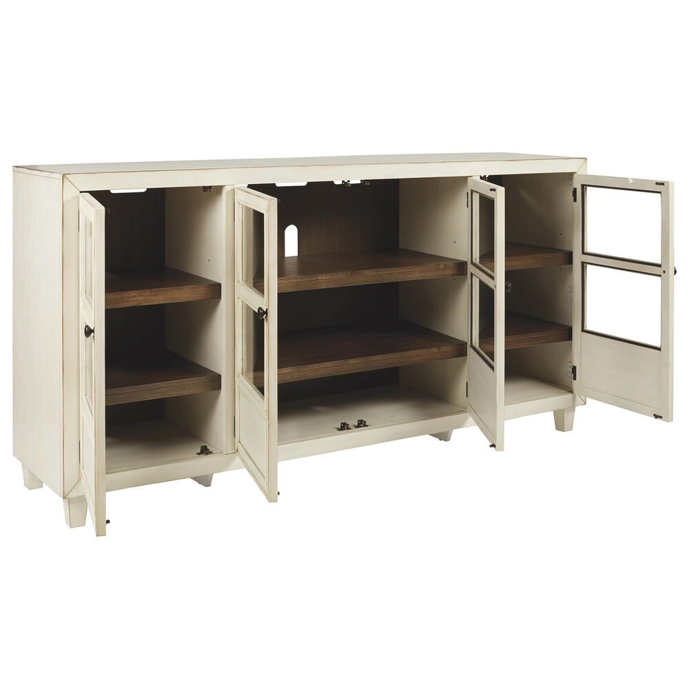 Signature Design by Ashley Deanford Accent Cabinet in Antique White, , large
