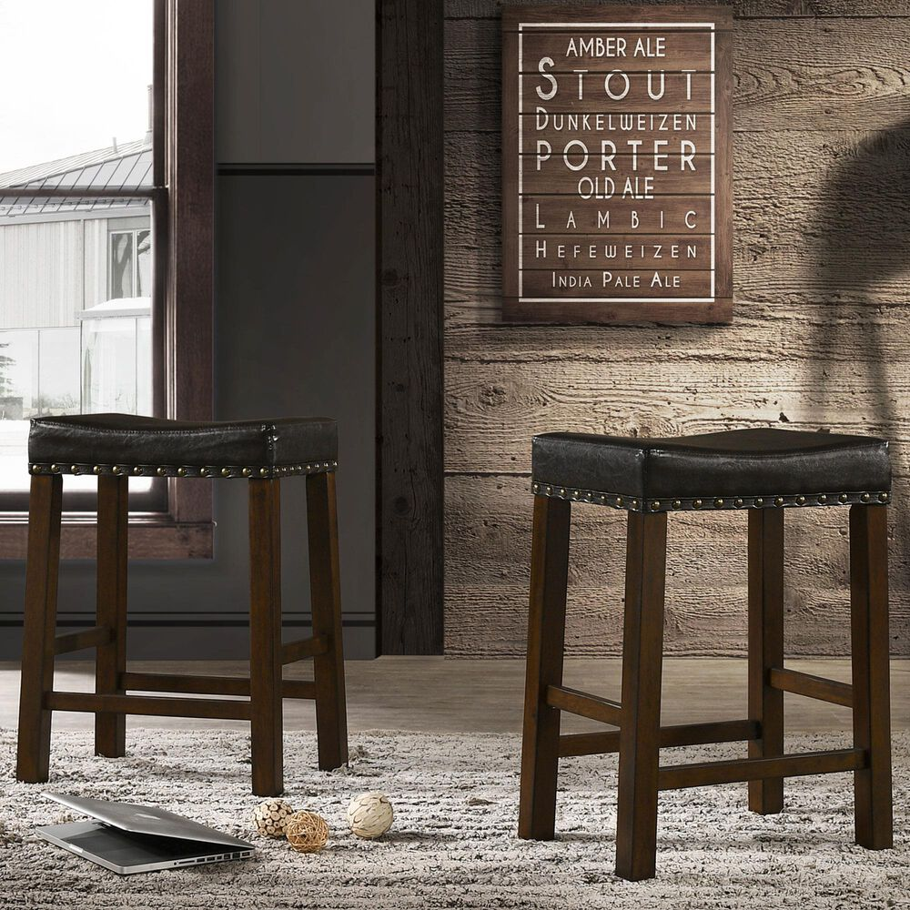"""Carolina Chair and Table Soren 24"""" Stool in Brown/Elm, , large"""