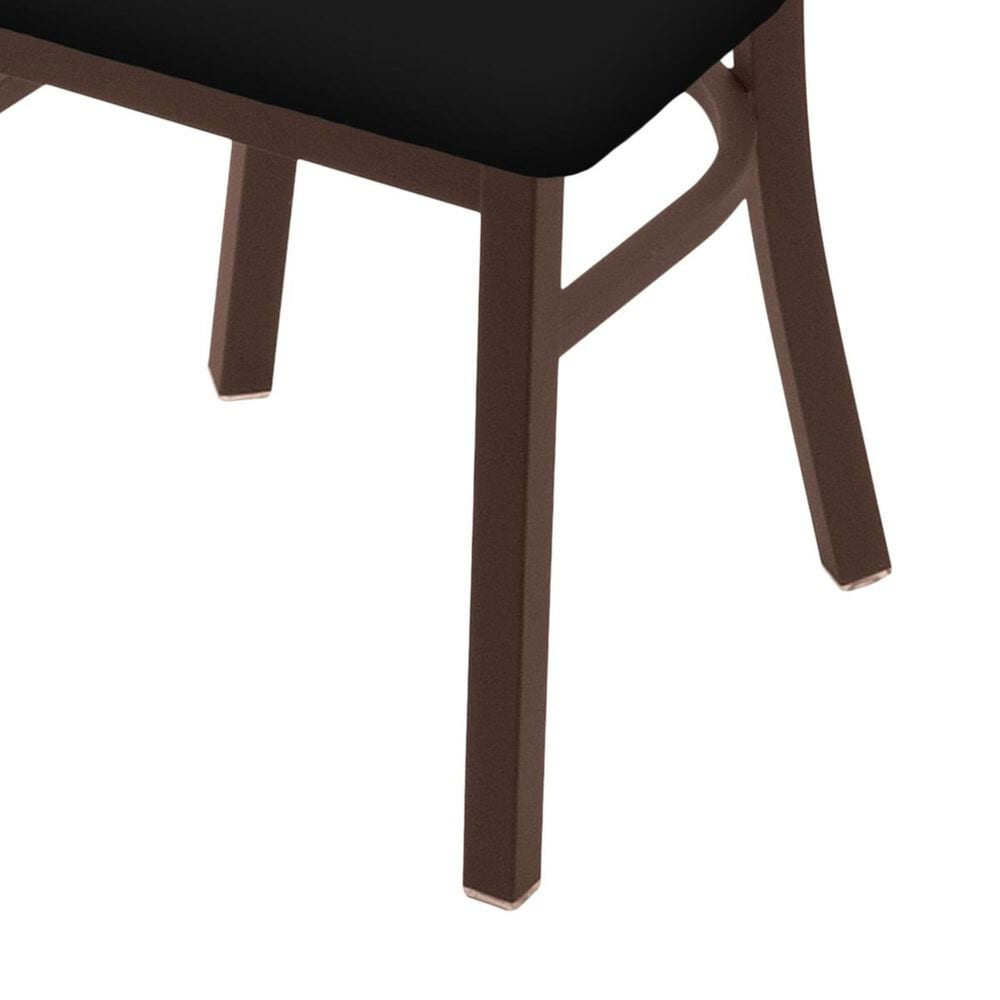 """Holland Bar Stool 620 Catalina 18"""" Chair with Bronze and Black Vinyl Seat, , large"""