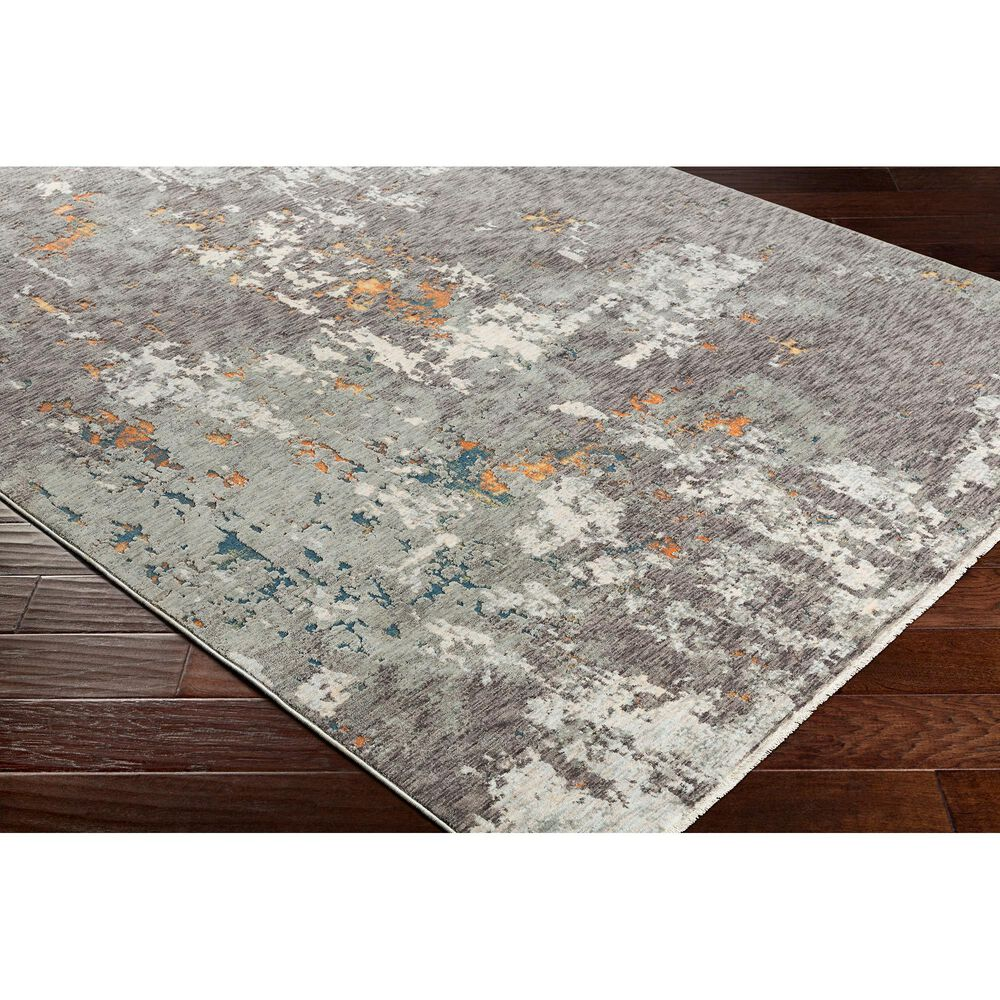Surya Presidential PDT-2302 5' x 8' Blue, Gray and Orange Area Rug, , large