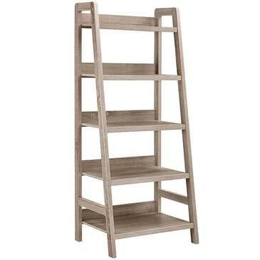 Linden Boulevard Tracey Ladder Bookcase in Gray, , large