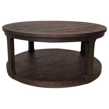 Nicolette Home Boswell Round Cocktail Table with Caster in Peppercorn, , large