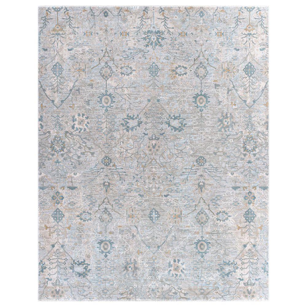 "Surya Brunswick 12"" x 15"" Beige, Sage, Blue and Gray Area Rug, , large"
