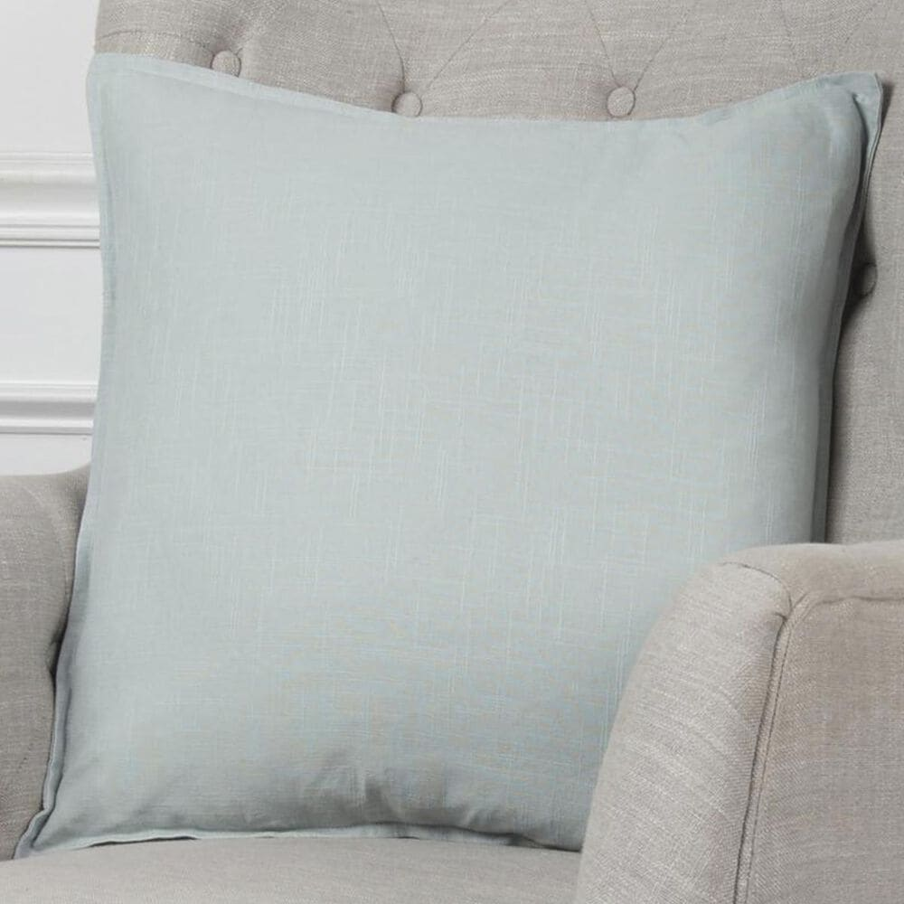 """Rizzy Home 20"""" x 20"""" Pillow Cover in Aqua, , large"""