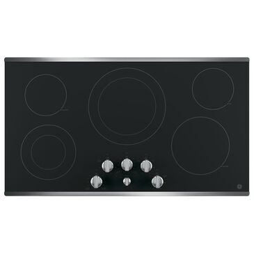 "GE Appliances 36"" Built-In Knob Control Electric Cooktop with 5 Cooking Elements in Stainless , , large"