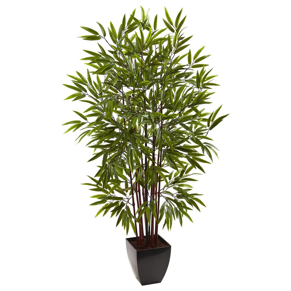 Nearly Natural Inc 5' Bamboo Silk Tree with Planter, , large