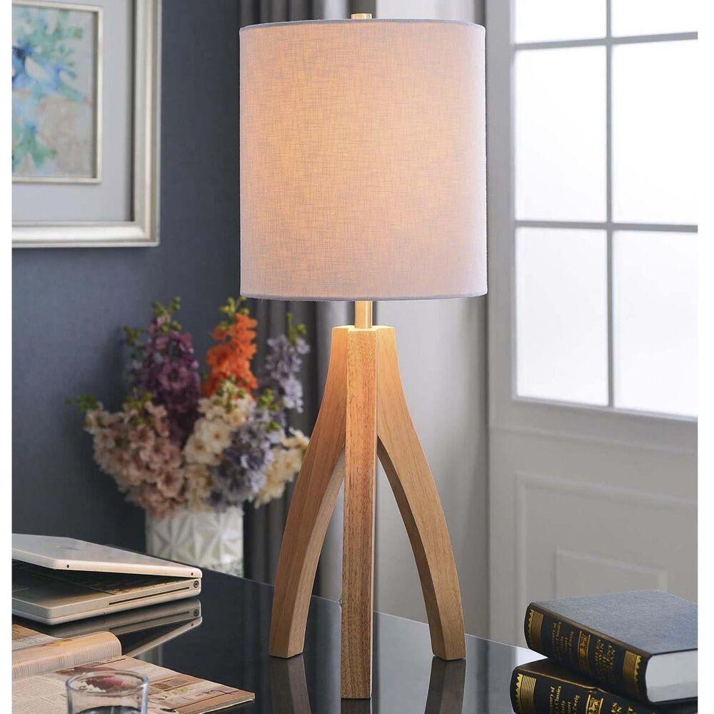 """Kenroy Haley 26.5"""" Table Lamp in Wood Grain, , large"""